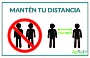 Maintain your distance - Spanish